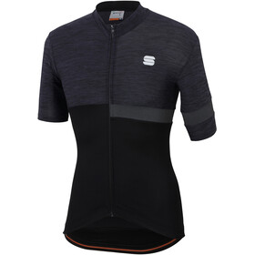 Sportful Giara Koszulka rowerowa z zamkiem błyskawicznym Mężczyźni, black/black
